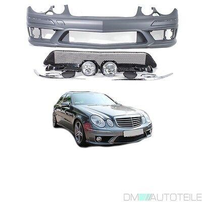 Mercedes E-Klasse W211 Front Stoßstange vorne +Zubehör für E63 AMG Mopf Facelift, gebraucht gebraucht kaufen  Ahlen