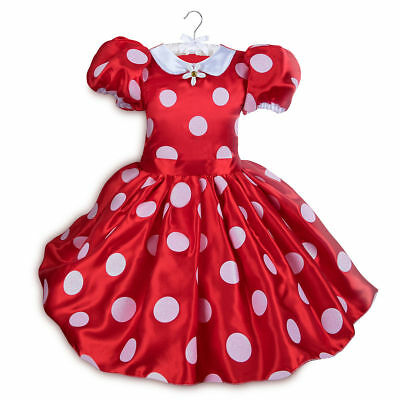 Disney Store Minnie Mouse Halloween Costume Dress Girl Size 5/6 (Stores Halloween Costumes)