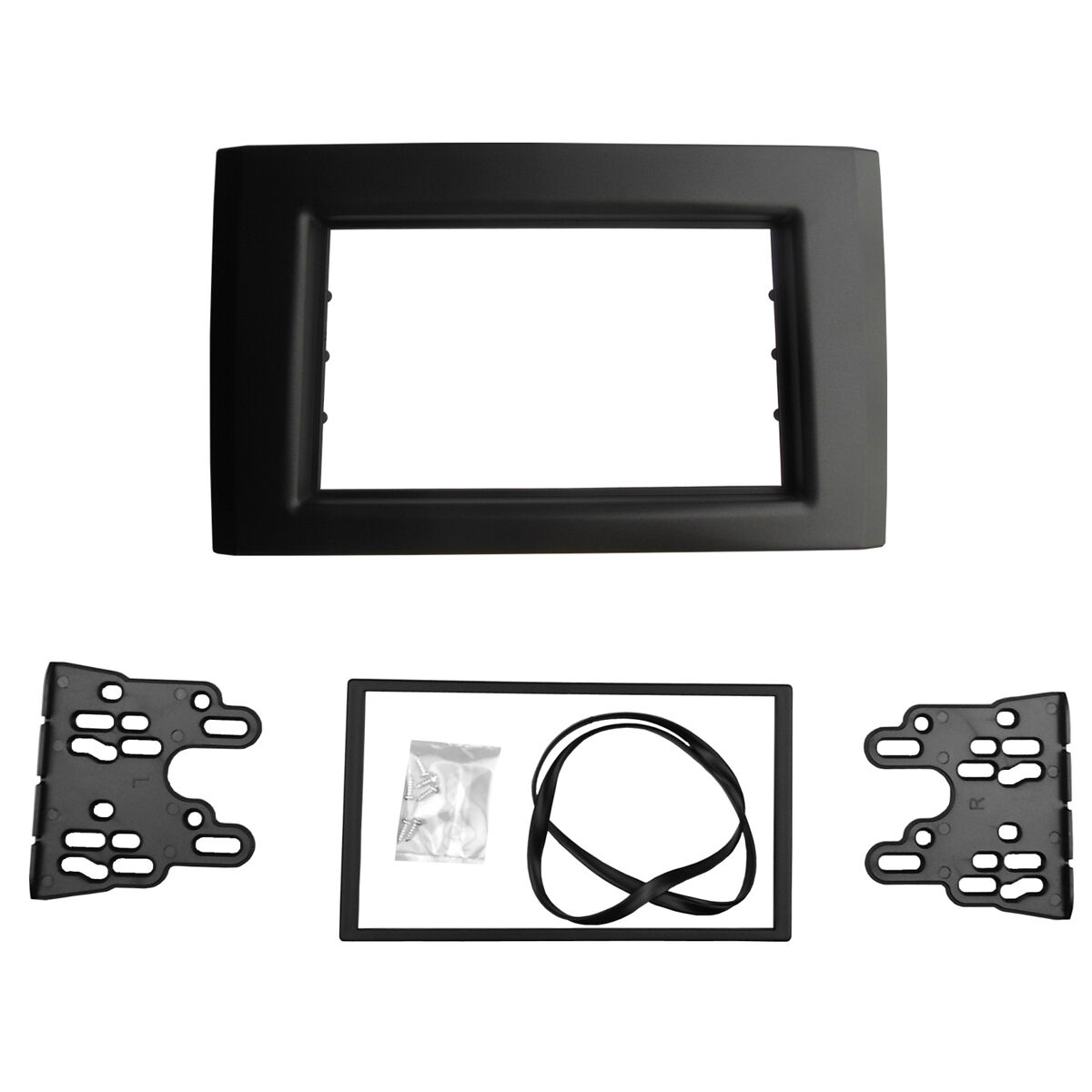 2 Din Radio Fascia For Volvo Xc90 Stereo Panel Dvd Mount Trim Kit Cd Frame Plate