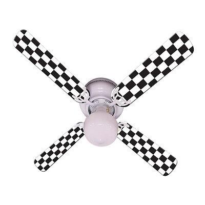 New NASCAR CHECKERED FLAG RACE RACING Ceiling Fan 42