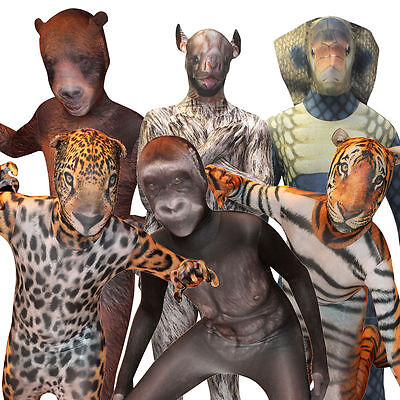 Kids Morphsuit Licensed Animal Planet Fancy Dress Costume For Halloween Party