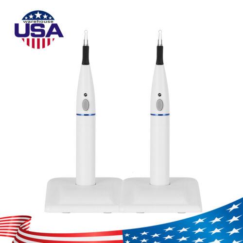 2Pcs AZDENT Wireless Dental Gutta Percha Cutters Tooth Gum Cutter with 8 Tips