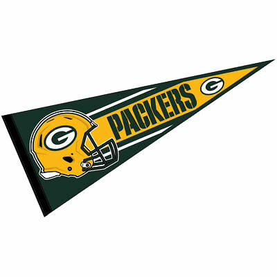Green Bay Packers NFL Helmet Pennant - Green Pennant