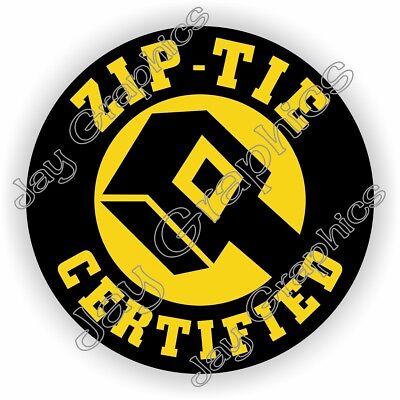 Funny Zip-tie Certified Hard Hat Sticker Welding Helmet Safety Motorcycle Usa