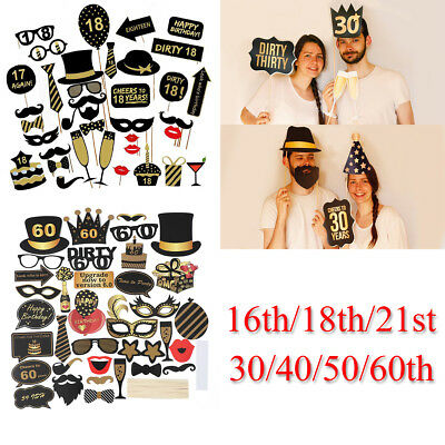 50th 21st Birthday Party Decorations Photo Booth Props Frame (21st Birthday Party Dekorationen)