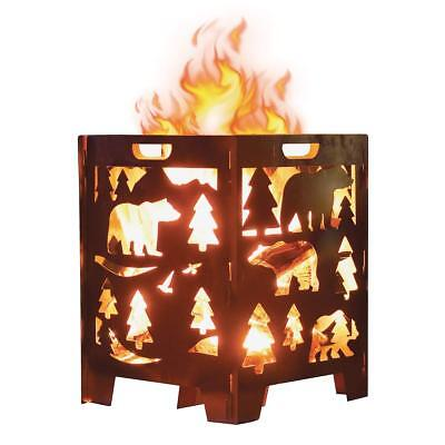 Large Burn Cage BEAR Fire Pits Stove Heavy Duty for Outdoor