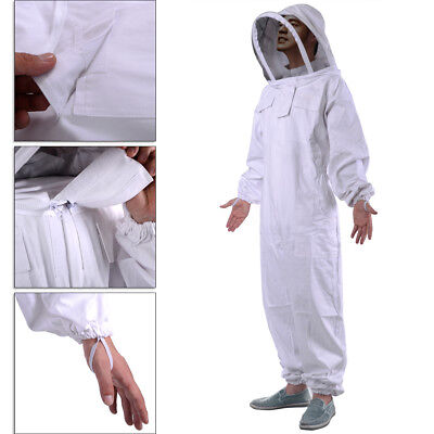 Professional Cotton Full Body Beekeeping Bee Keeping Suit Smock With Veil Hood