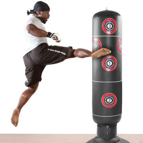 Adult Free-Standing Inflatable Punching Bag Stand Speed Boxing Training Sandbag