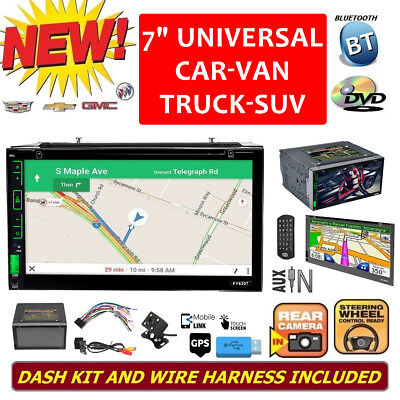 """7"""" Smart Android Bluetooth WiFi Double 2DIN Car Radio Stereo DVD Player GPS +Cam"""