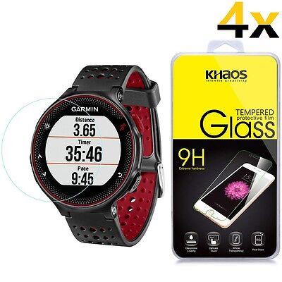 4x KS For Garmin Forerunner 225 220 230 235 HD Tempered Glass Screen Protector