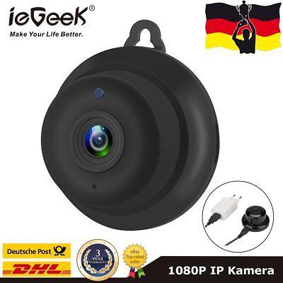 ieGeek üBerwachungskamera Mini 1080P HD Wifi Wlan IP Kamera IR Nachtsicht Webcam