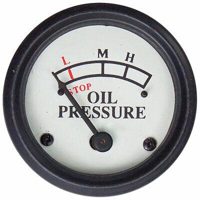 John Deere A B G M Ar Engine Mounted Oil Pressure Gauge 0-25 Psi - White Face