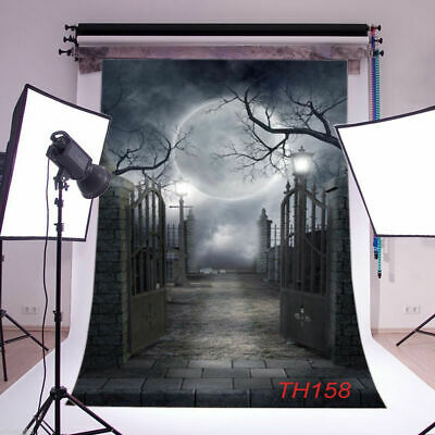 Halloween Horror Nights Backgrounds (Halloween Horror Night Photo Background Scared Yard Photography Backdrop Props)