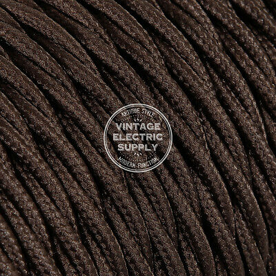 Brown Twisted Cloth Covered Electrical Wire - Braided Rayon Fabric Wire