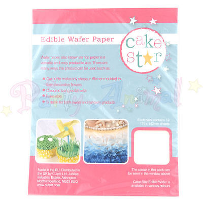 Cake Star - Edible Rice Wafer Paper - Perfect for cake decoration and projects