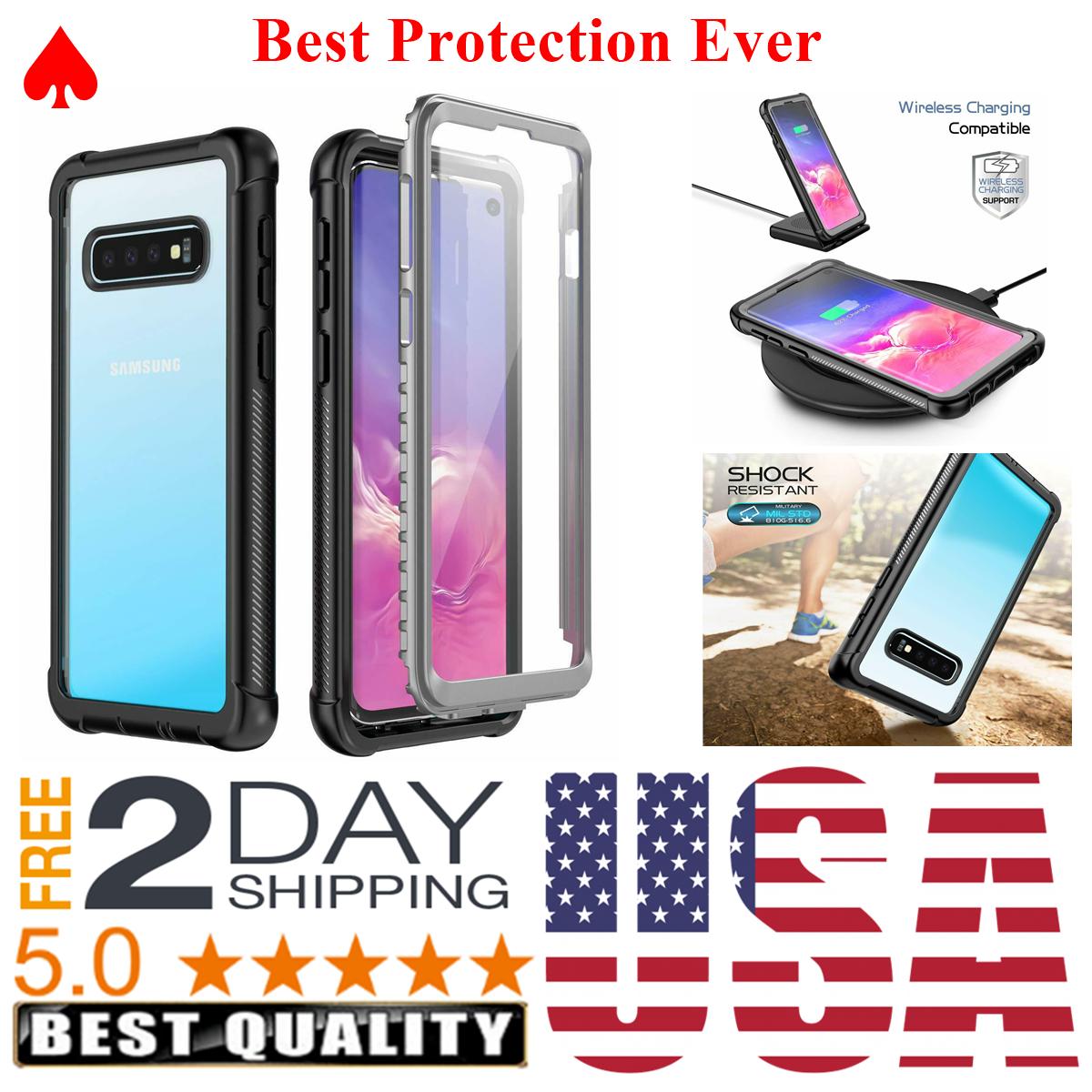 Estuche Para Samsung Galaxy S10 Protector De Pantalla Incorporado Proteccion - $18.99