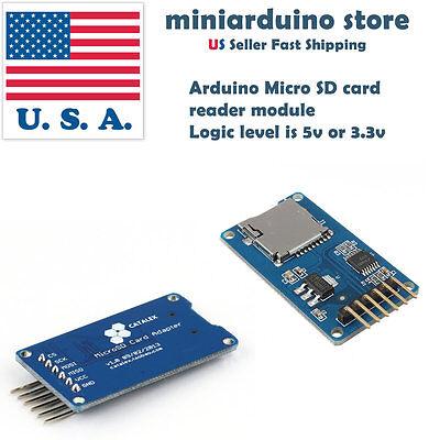 1 X Arduino Sd Card Board Micro Sd Tf Card Memory Shield Module Spi Usa