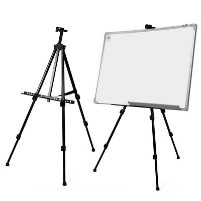 White Black Board Artist Telescopic Studio Painting Easel Display Tripod Stand Black Easel Stand