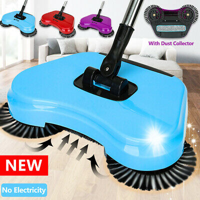 Spin Hand Push Sweeper Broom Household Floor Dust Cleaning Mop No -