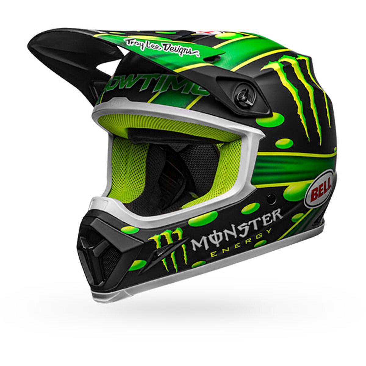 Bell MX-9 MIPS Showtime McGrath Motocross Helmet Matte Black Green 3XLarge NEW