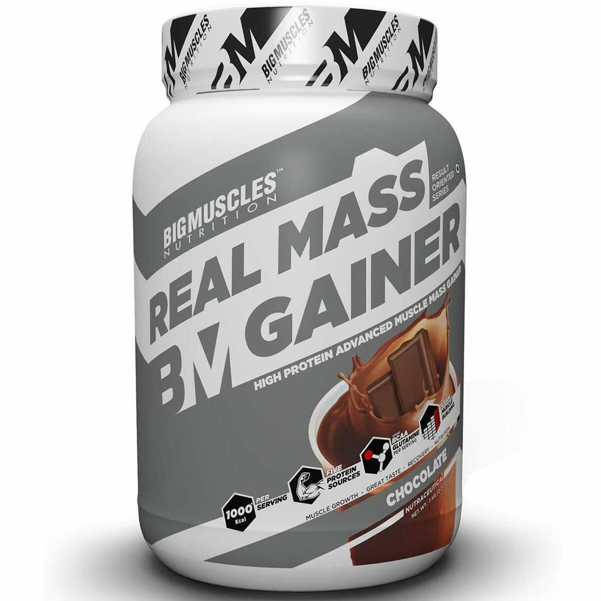 nutrition real mass gainer 1kg chocolate