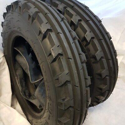 6.00x16 6.00-16 2-tires Tubes 8 Ply Road Crew Knk-30 4-rib Farm Tractor