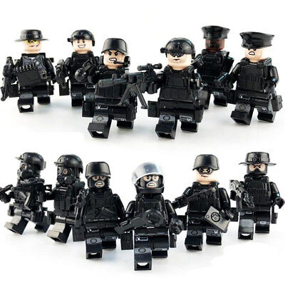 12pcs/set Military Special SWAT Police Building Bricks Figures Educational - Police Building Set