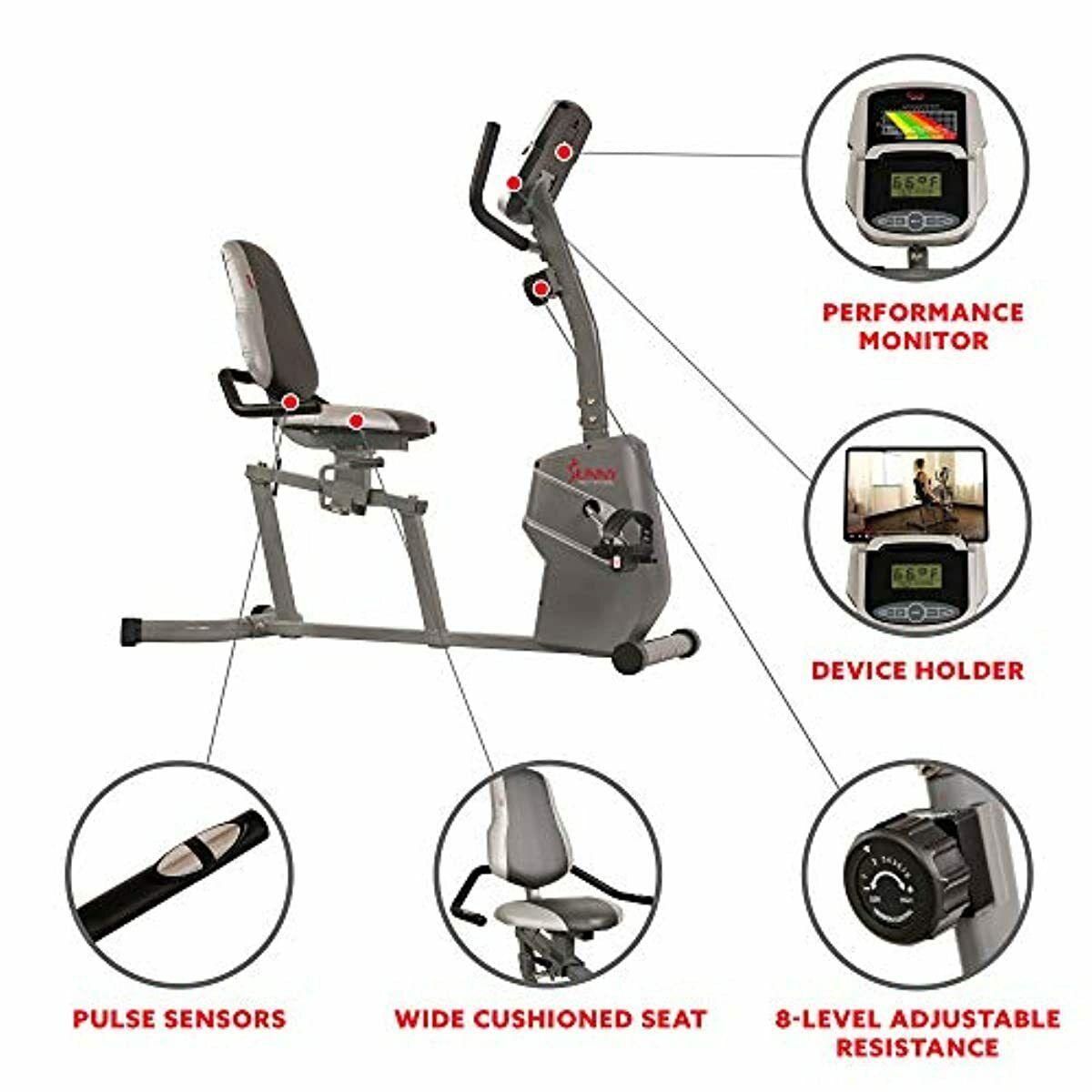 Recumbent Exercise Bike Adult Magnetic