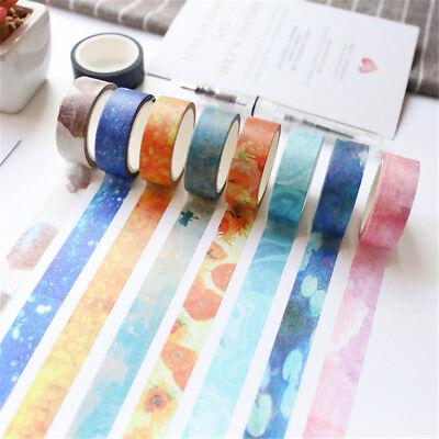 Color DIY Adhesive Washi Paper Tape Self Sticker Scrapbooking Album Diary Decor - Diy Tape