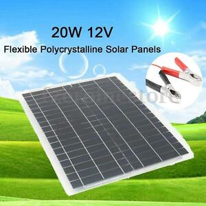 20W-12V-Flexible-Solar-Panel-4m-Cable-For-Battery-Charging-RV-Boat-Caravan-Home