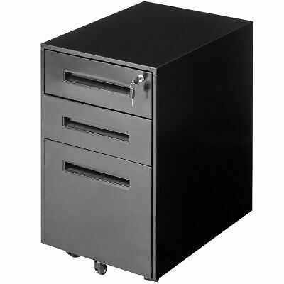 Rolling A4 File Cabinet Sliding Drawer Metal Office Organizer Storage -