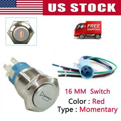 4-Pack Universal 12 Volt Horn Button Switch Flush Mount Air Train Pushbutton
