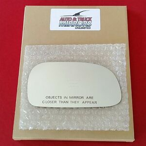 NEW Mirror Glass + ADHESIVE 93-97 TOYOTA COROLLA Passenger Right Side RH