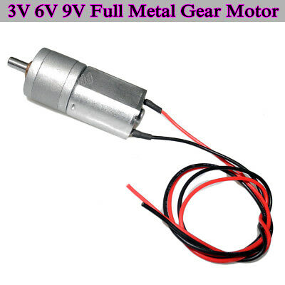 3v 6v 9v 20mm Full Metal Reduction Gear Motor Large Torque Diy Small Car Robot