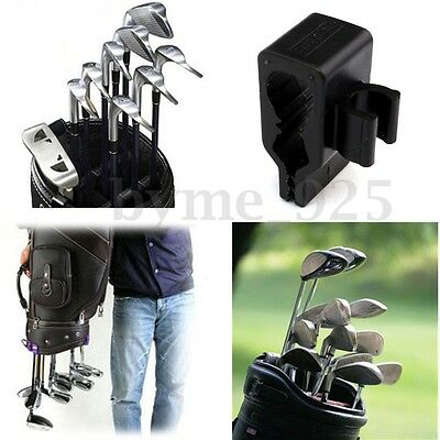 14x Golf Bag Organizer Club Putter Clip Holder Set for All Wedge Iron Driver