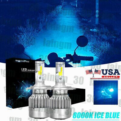 9003 H4 Motorcycle LED Headlights Bulbs Kit High&Lo Beam Best 110W 8000K
