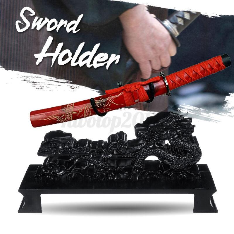 Vintage Wall Mount Katana Samurai Sword Holder Stand Dragon Shape