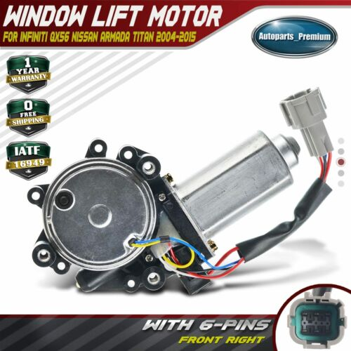 Window Lifter Motor Front Left Driver Side ABS Window Control Motor Fits for 2004-2015 80731-9FJ0A