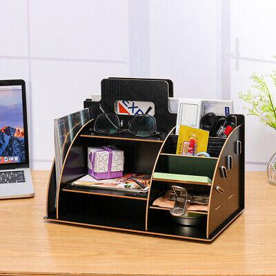 Wooden Desk Organizer Sorter Drawer Tabletop Shelf Rack Shelf Pen Holder Storage