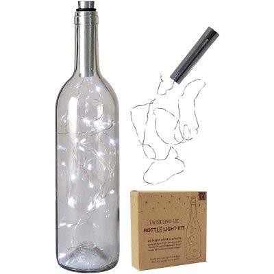Halloween Party Basement (20 Twinkling LED Bright White Bottle Light Kit Christmas Wedding Fairy Lights)