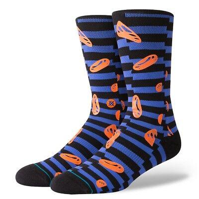 Haltung Neu Herren Gesicht Schmelzende Socken Blau Neu mit Etikett