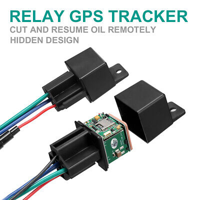 GPS GSM Car Tracker Tracking Security Device Relay-Shape Spy Cut Oil Remotrly