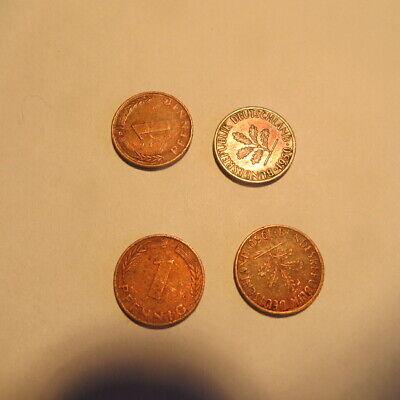 4 x 1 pfennig   Allemagne    1950