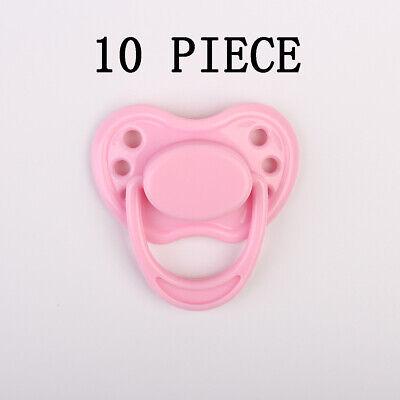 10 Pieces Pink Dummy Pacifier For Reborn Baby Dolls Newborn Nipple Accessories