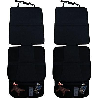 SET:2x Auto Sitz Auflage Unterlage für Babyschale Erhöhung Kinder Schutz Schoner