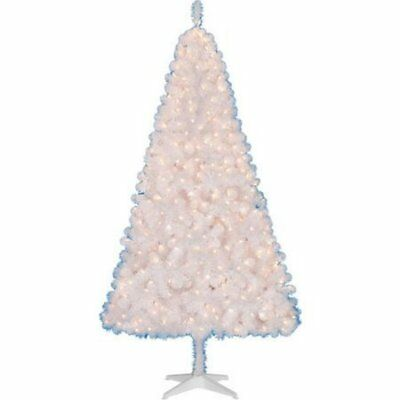 Pre-Lit Clear Lights White Artificial Christmas Tree 6.5-ft Madison Pine NEW!!!