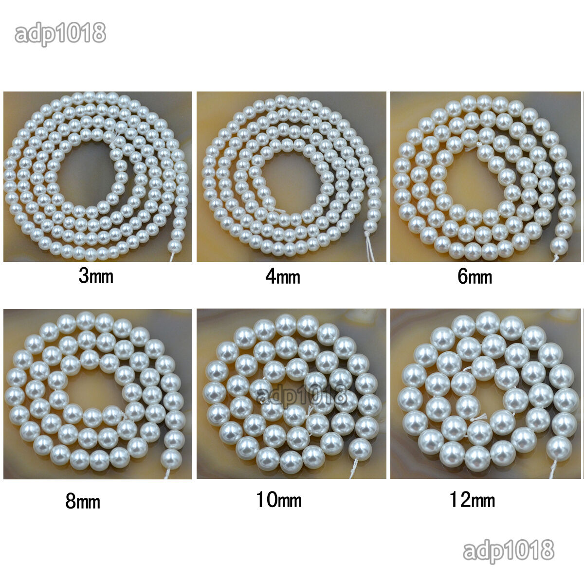 Wholesale Top Quality Czech Glass Pearl Round Beads 16 3mm 4mm 6mm 8mm 10mm