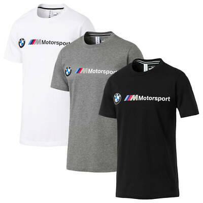Puma Sport Mens BMW Motorsport Logo Tee Lightweight Crew T-Shirt 32% OFF RRP