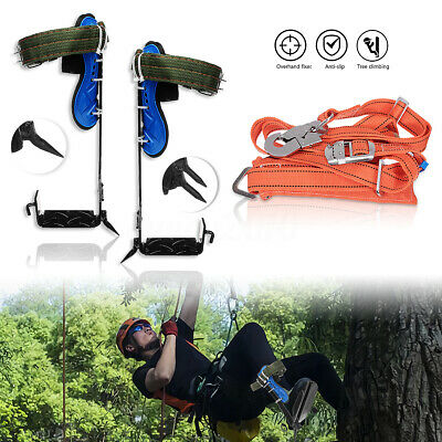 Treepole Climbing Spike Safety Belt Straps Adjustable Lanyard Stainless Steel