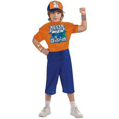 WWE JOHN CENA NEVER GIVE UP Child Halloween Costume Wrestling (Sz Small 4-6) NEW](Halloween John Cena Costume)